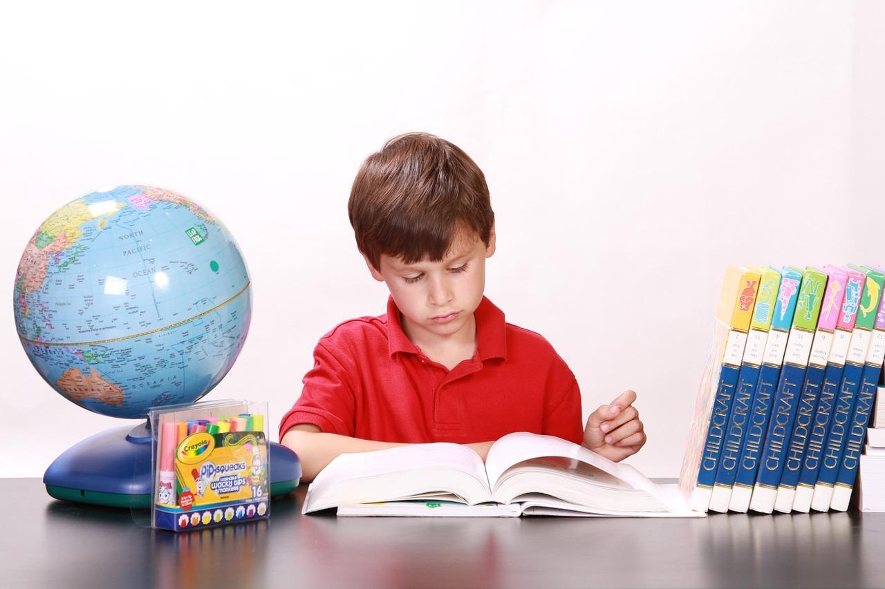 本を読む男の子の画像