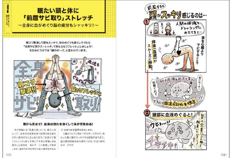 「すごいストレッチ」という本の内容を紹介する画像