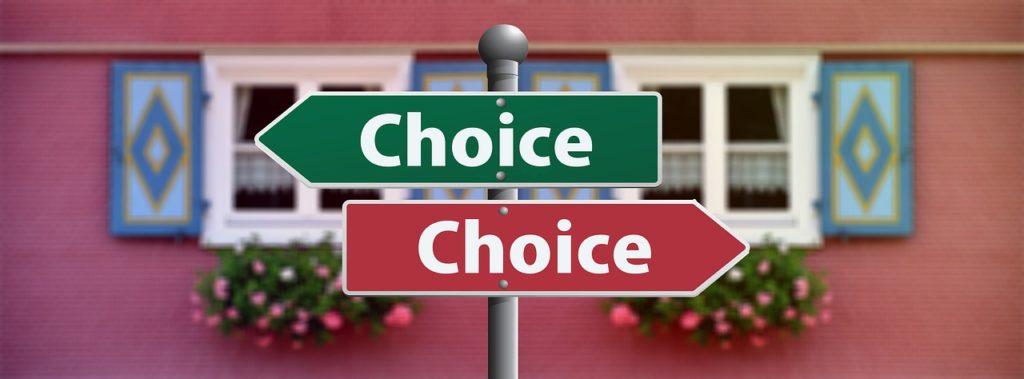 「Choice」と書かれた標識の画像